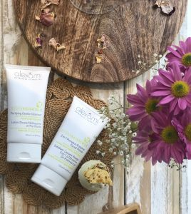 Spring skincare for cleansing and exfoliation